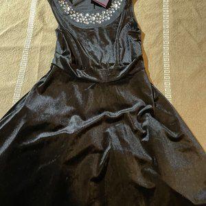 Disney D-Signed Black Velvet Dress w/Rhinestone 8